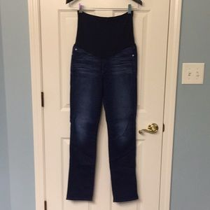 7 for all mankind straight leg maternity jeans